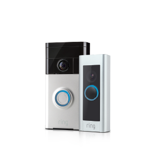 Transparent electronics product. Video doorbells ring