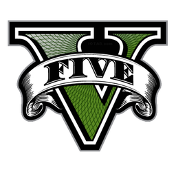 Transparent emblem gta v. Five logo only png