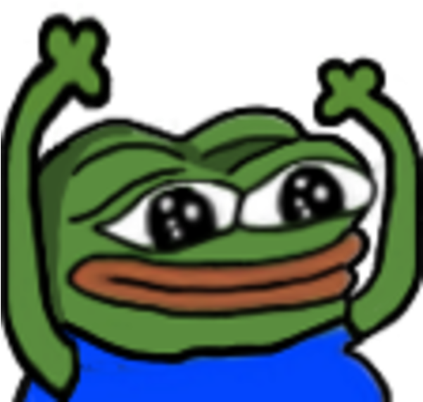 Transparent emotes hypers. Download pepehype emote png