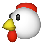 Transparent emotes chicken. Emoji appleios version