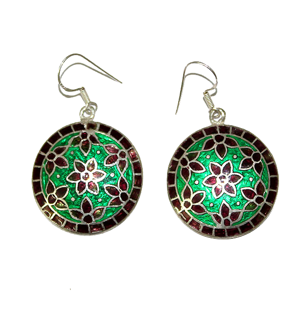 Transparent enamel torch fired. Jewel articulate jewellery maux