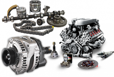 Transparent engine auto part. Premier and truck parts