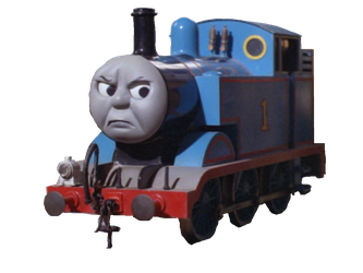 Transparent engine track. Thomas the tank by