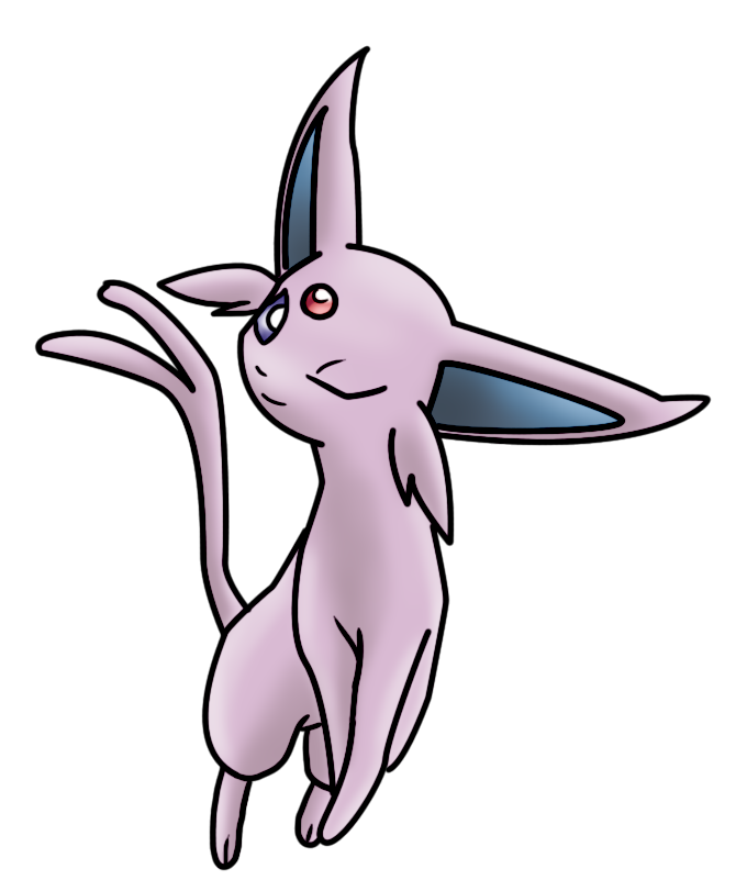 Transparent espeon deviantart. Coloring by orangesyum on