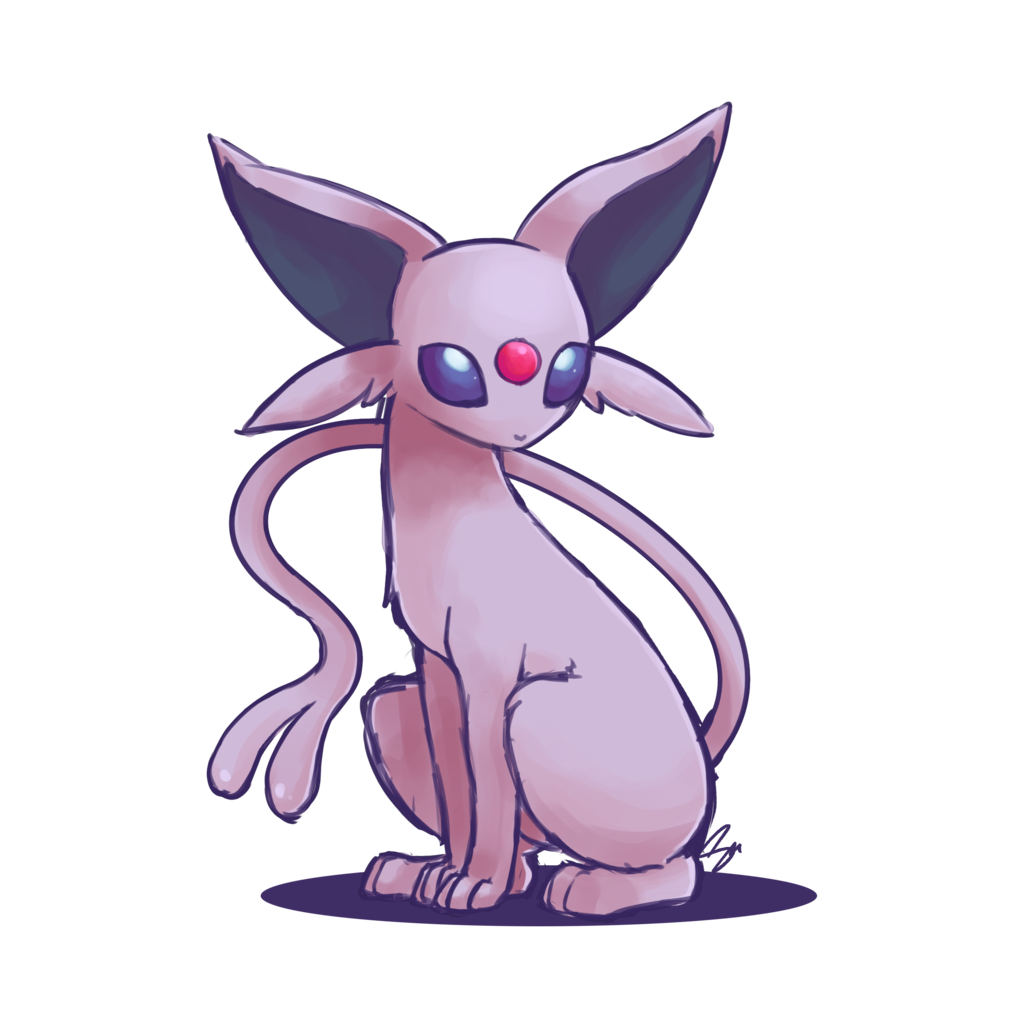 Transparent espeon kawaii. By steffy beff on clipart black and white library