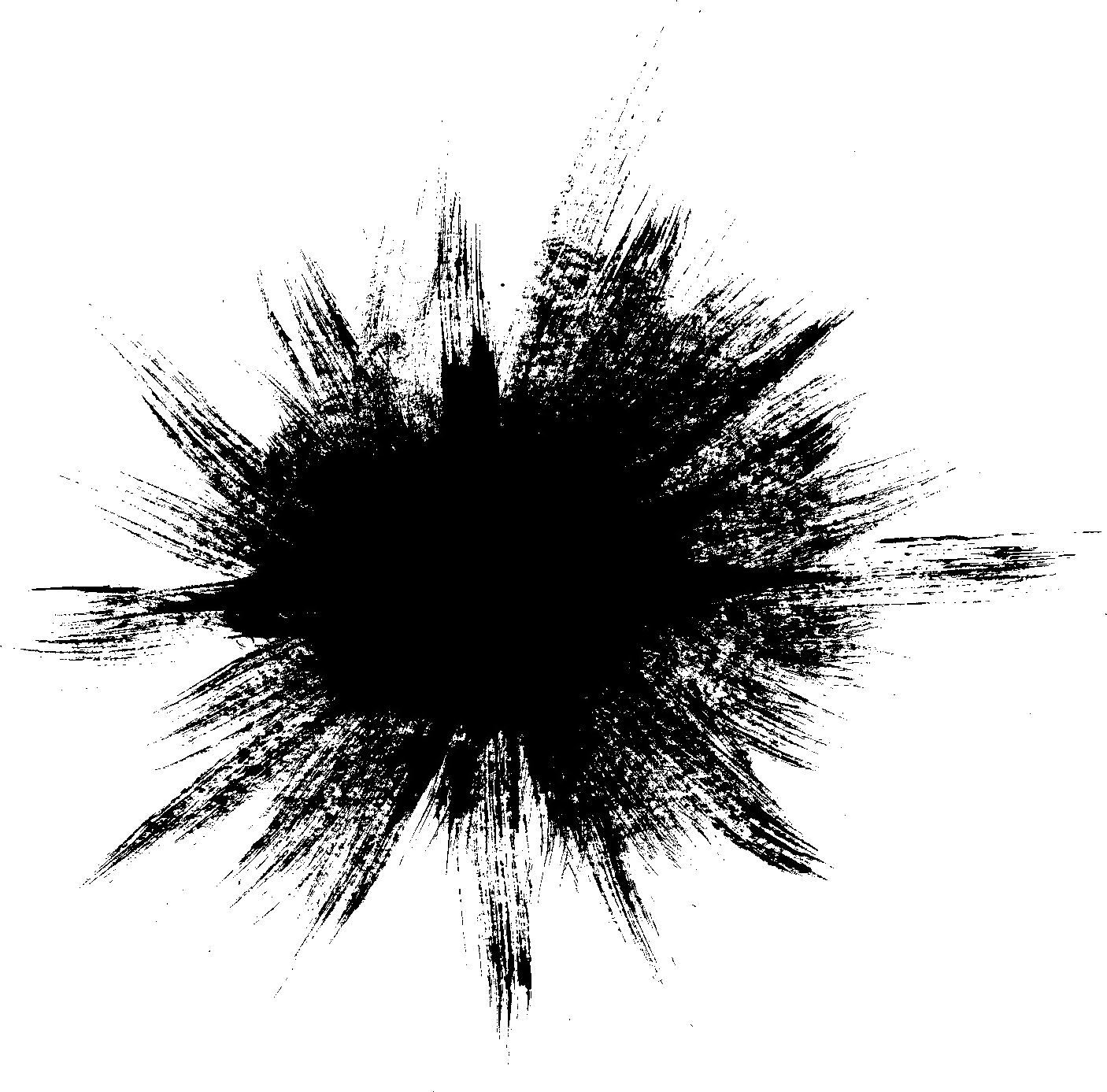 Transparent explosions circle. Grunge explosion png