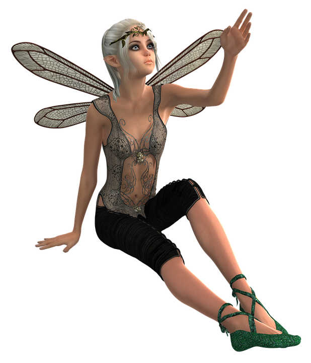 Transparent fairy fae. Free photo beauty fee
