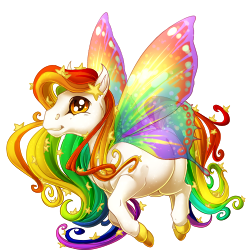 Transparent fairy rainbow. Image celestial spring png