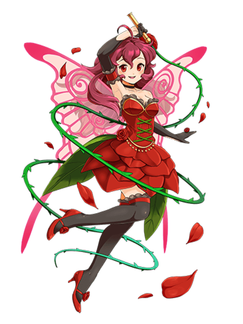 transparent fairy red