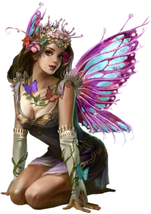 transparent fairy mystical