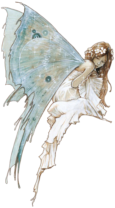 Transparent fairy. The blue by jean