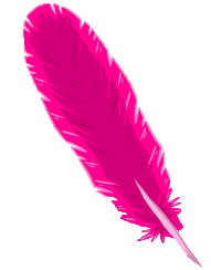 Transparent feathers pink. Image feather sprite png