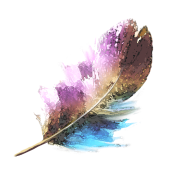Transparent feathers watercolor. Feather by smarttaste spreadshirt
