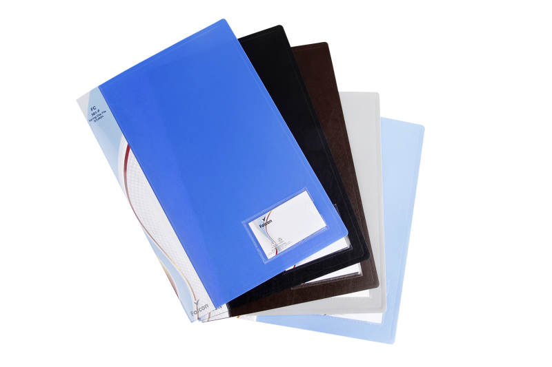 Transparent files pocket. Falcon stationery products clip
