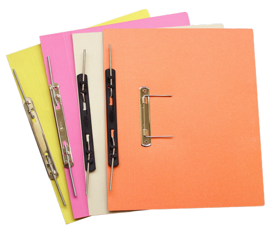 Transparent files stationery. Paper file archives union