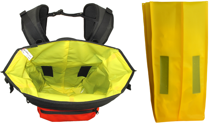 Transparent files waterproof. Backpack and pannier liners