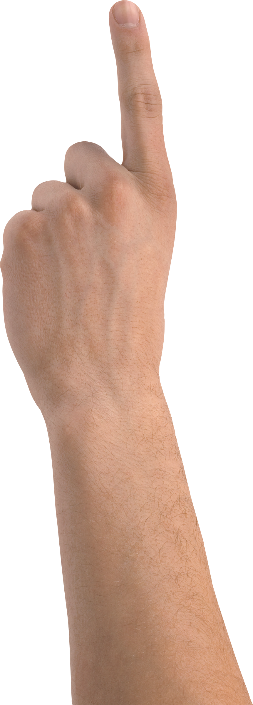Hand. One finger png image