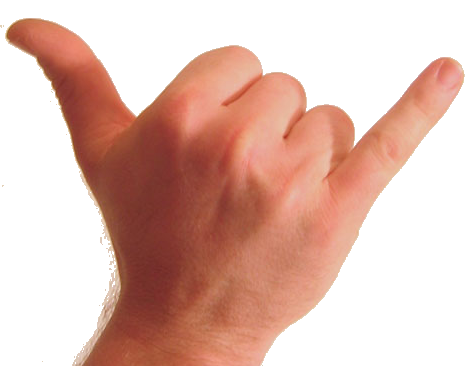 Transparent finger pinky. Stuffsurferslike com the shaka
