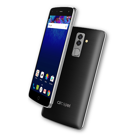 Transparent flash phone. Alcatel with cameras and