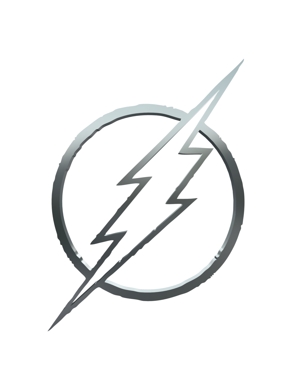 Transparent flash symbol black. Dc s the logo