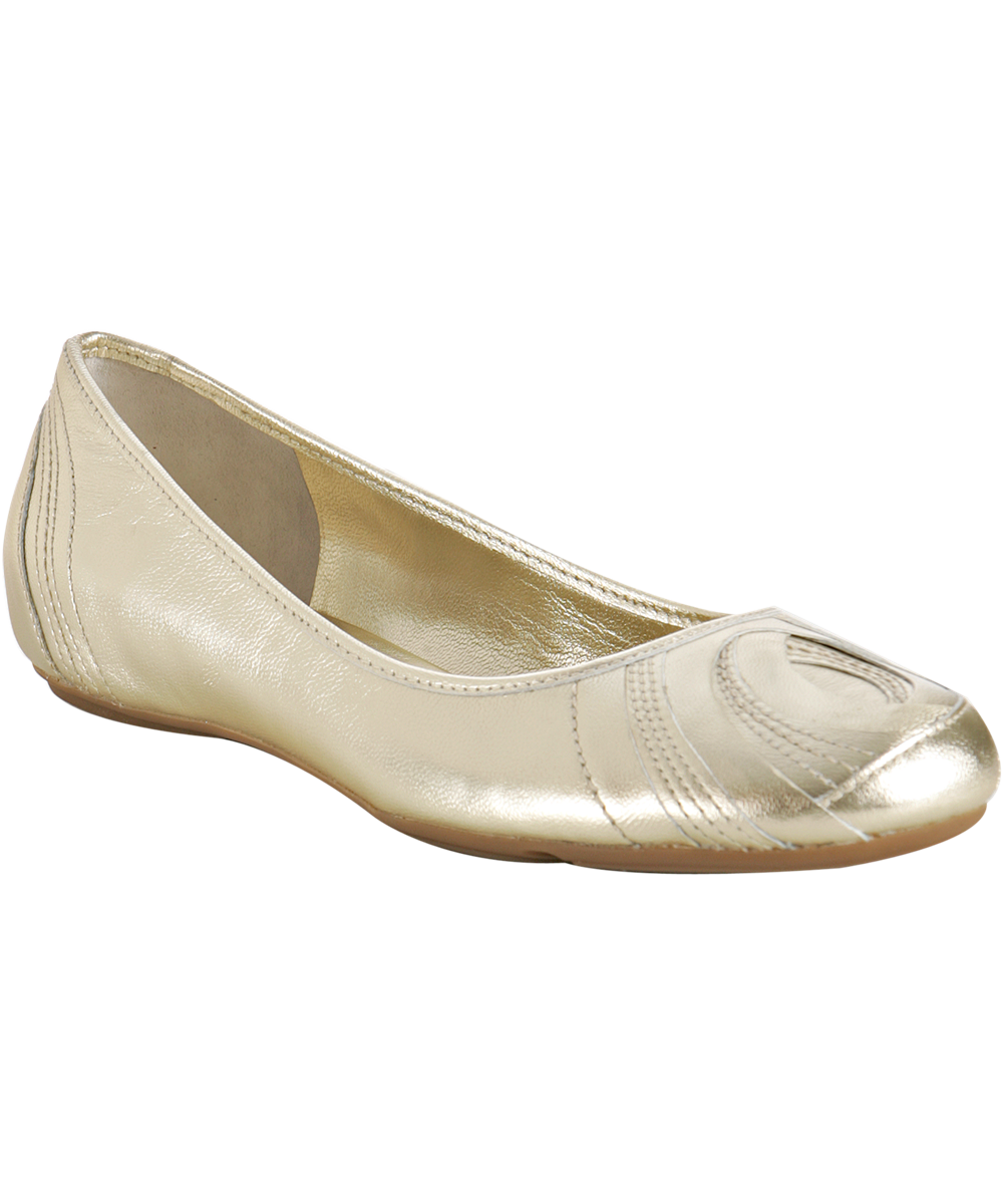 Transparent flats gold. Cole haan leather air