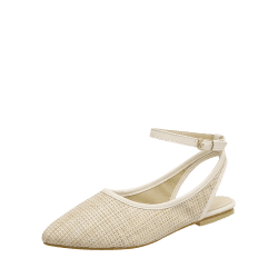 transparent flats pointed toe