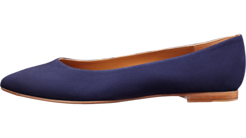 Transparent flats pointy. The pointe margaux pointis