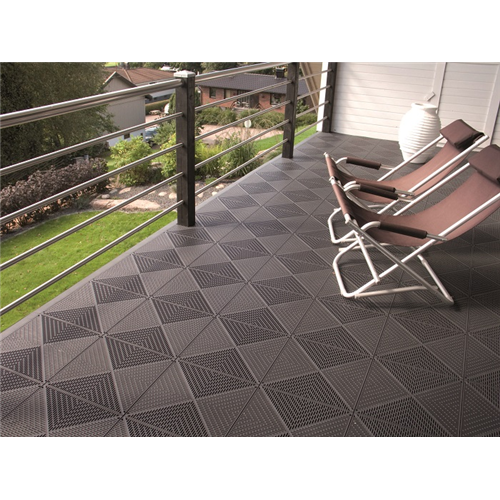Outdoor balcony roof terrace. Transparent floor tiled clip library stock