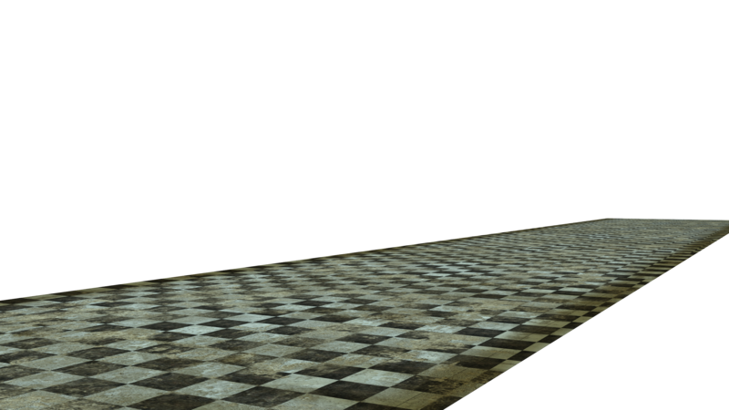 Transparent floor grunge. Stock cut out by