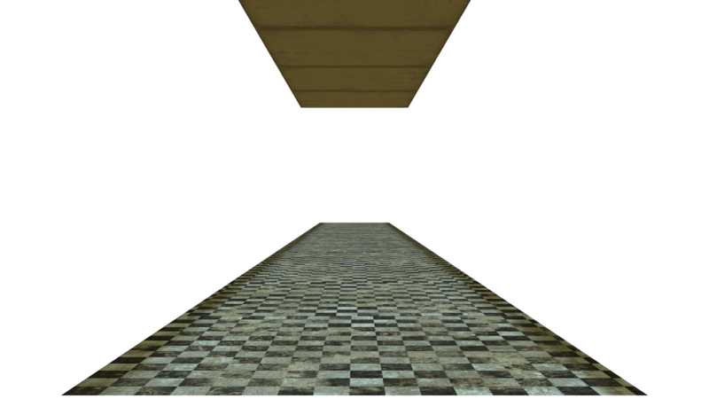 Transparent floor grunge. Stock and ceiling by