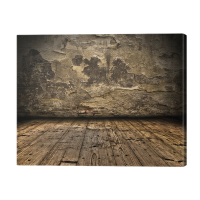 Transparent floor grunge. Wall with wooden plank