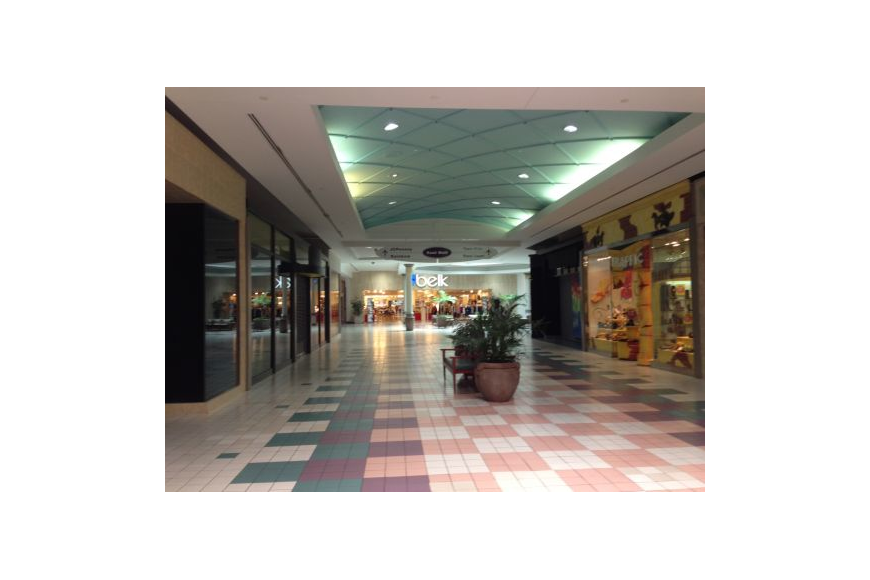 Transparent floor mall. Regency square buyer to
