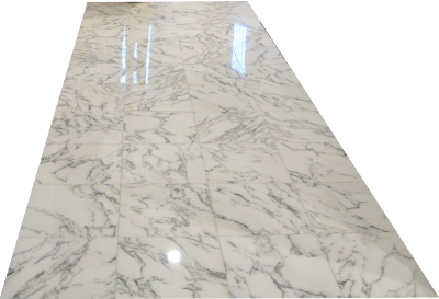 Transparent floor marble. Sparclean refinishing and maintenance