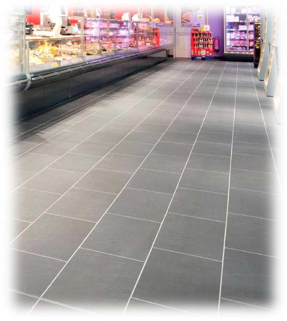 Transparent floor tiled. Gbs group commercial office
