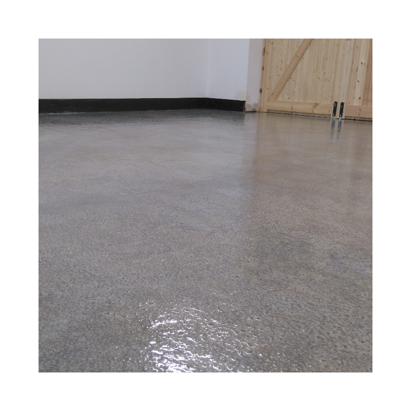 Transparent floor resin