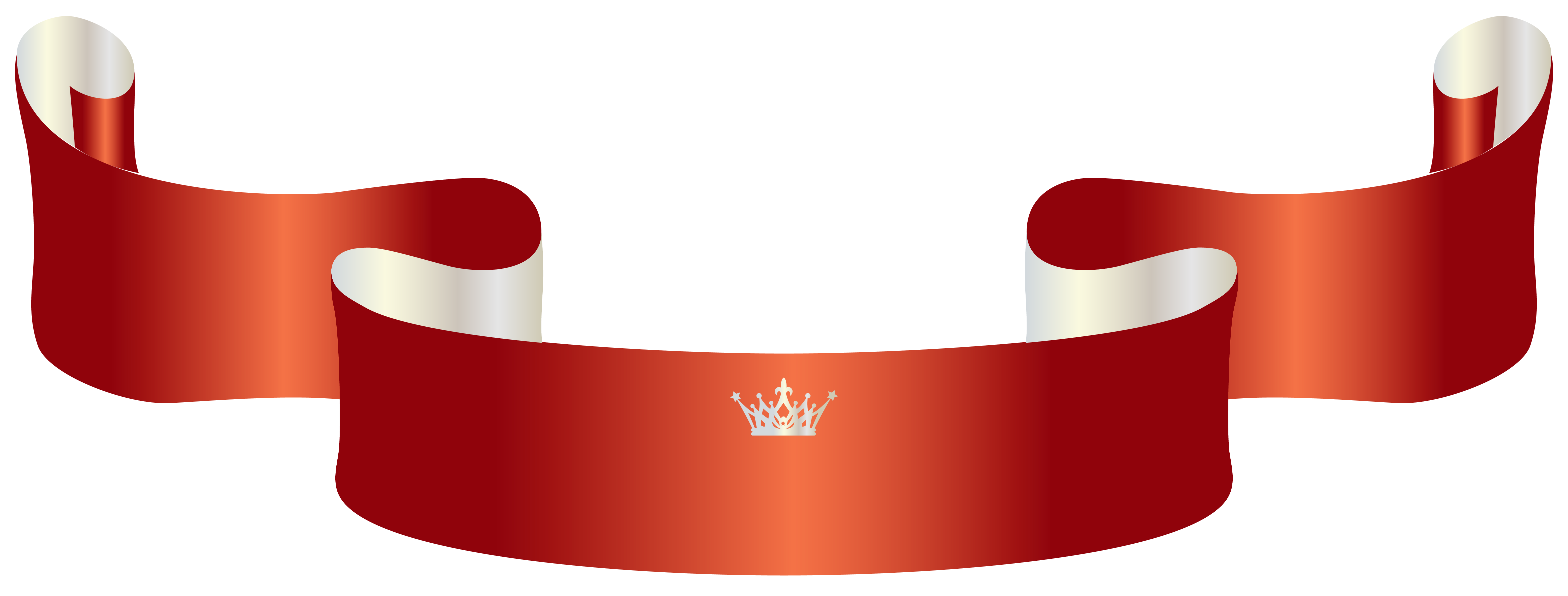 Transparent flower crown png. Red banner with clipart