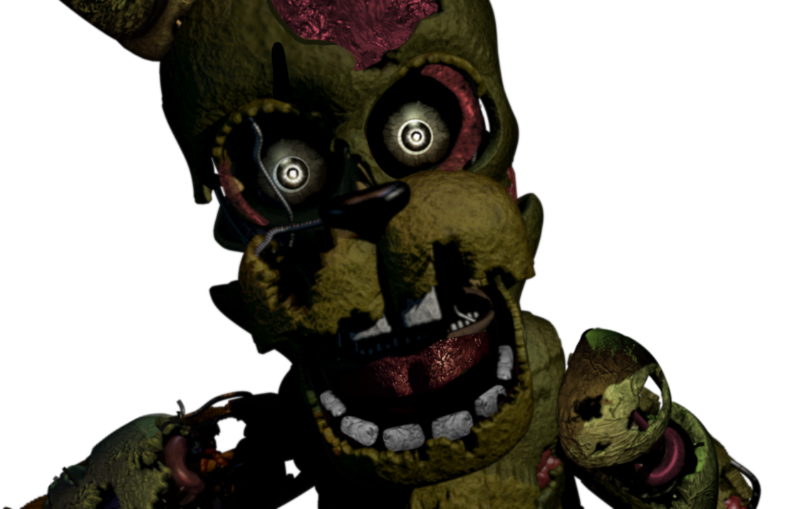 Transparent fnaf 3. Salvaged springtrap style by