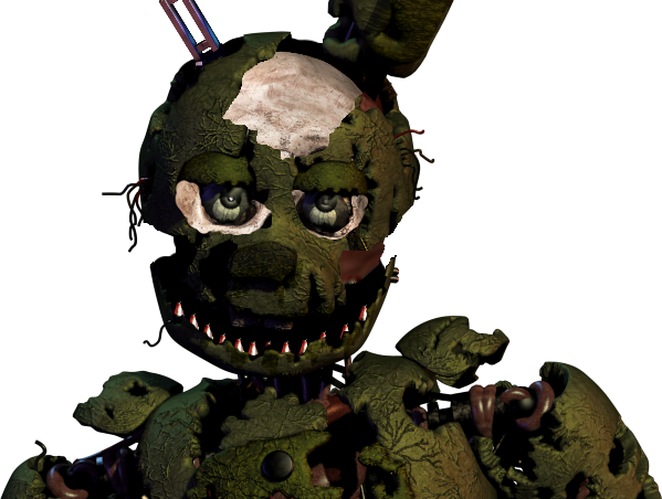 Transparent Fnaf 6 Springtrap Transparent & PNG Clipart Free