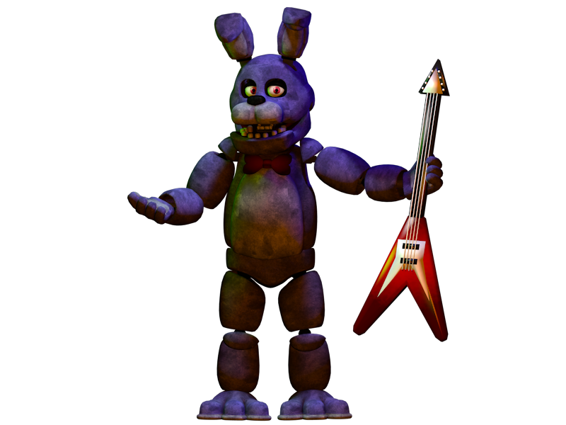 Transparent fnaf bonnie. C d render by