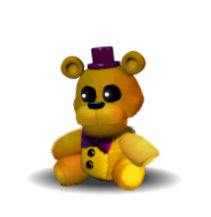 transparent fnaf fredbear plush