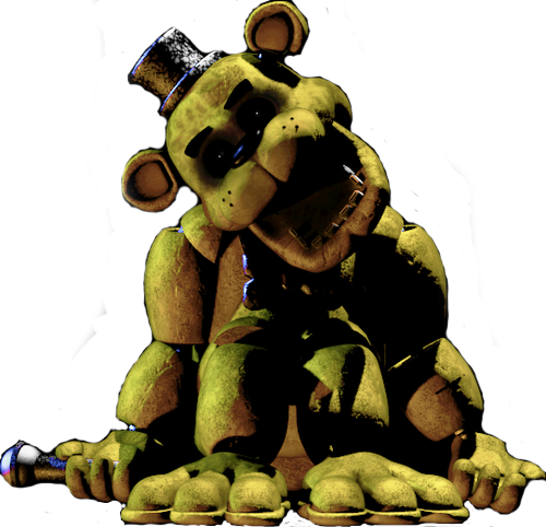 Transparent fnaf golden freddy. Image decal by punchox