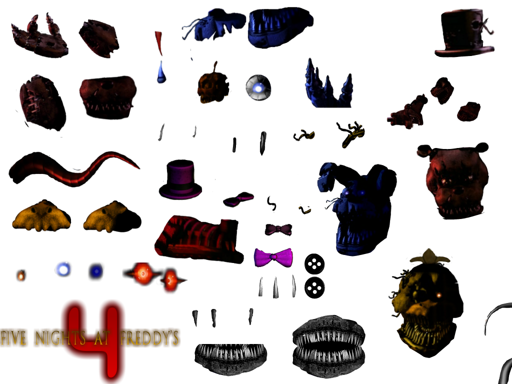 Transparent fnaf resource pack. Free to use by