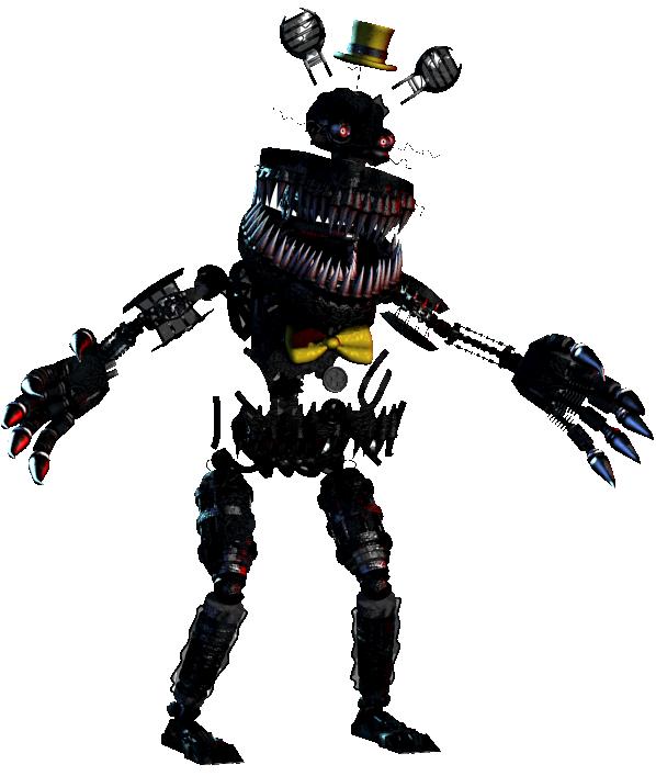 Transparent fnaf scary. Nightmare without transparency five