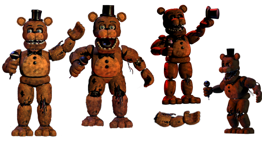 Transparent fnaf withered. Freddy resources