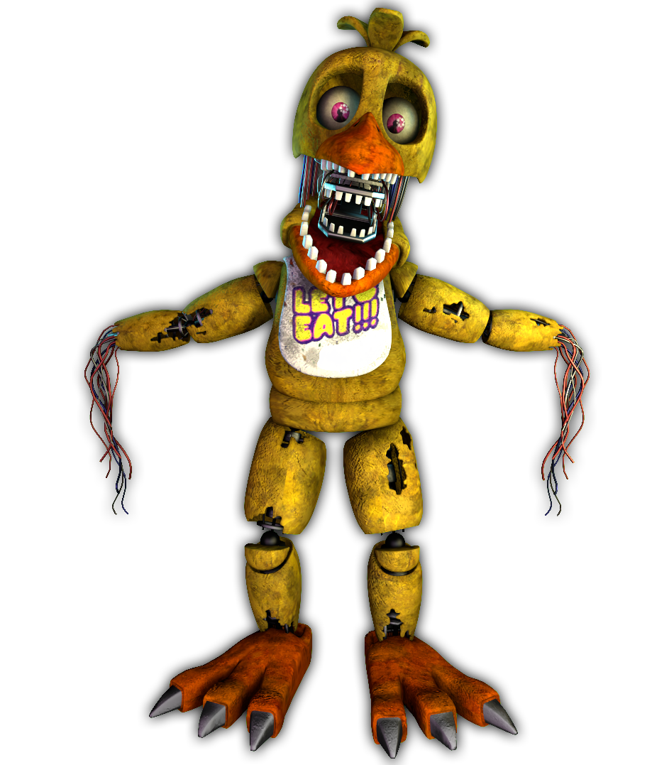 Transparent fnaf withered. Chica render fivenightsatfreddys renderwithered