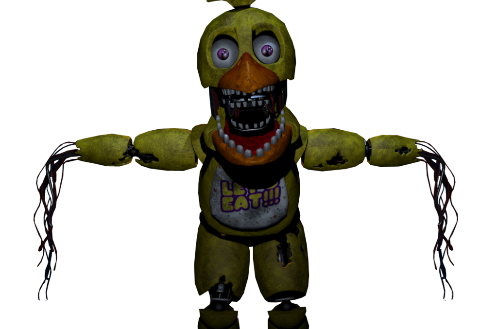 Transparent fnaf withered. Chica commission by fazboggle