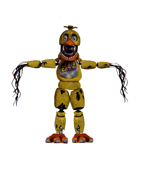 Transparent fnaf withered. Image chica full body