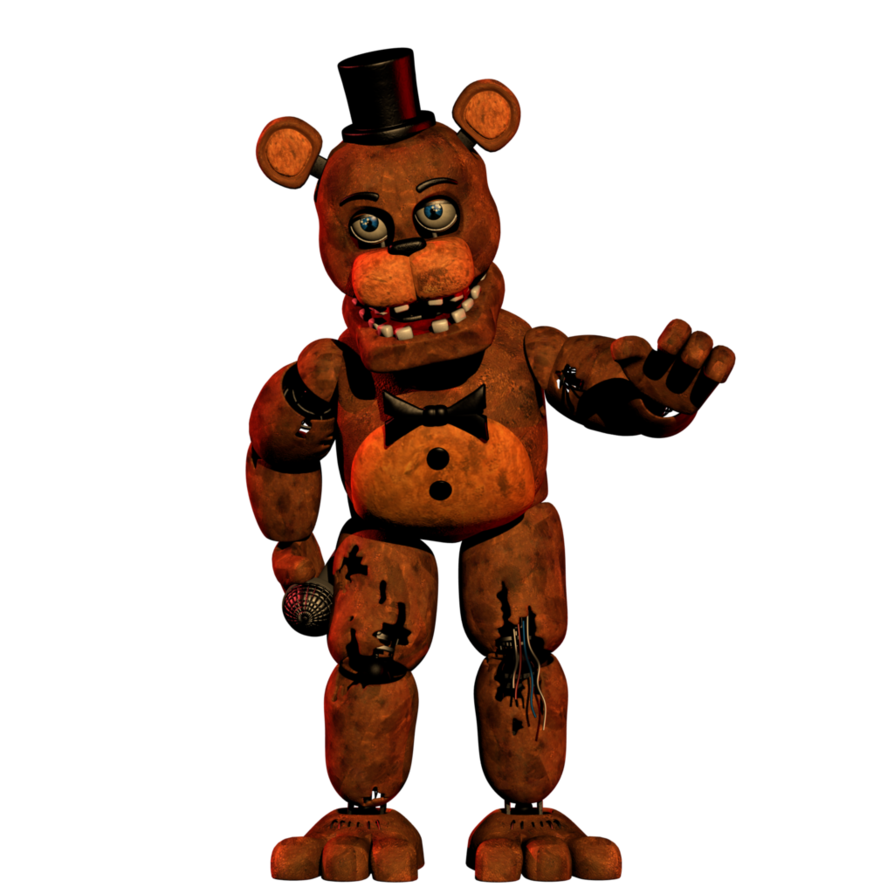 Transparent fnaf withered. Freddy in office pose