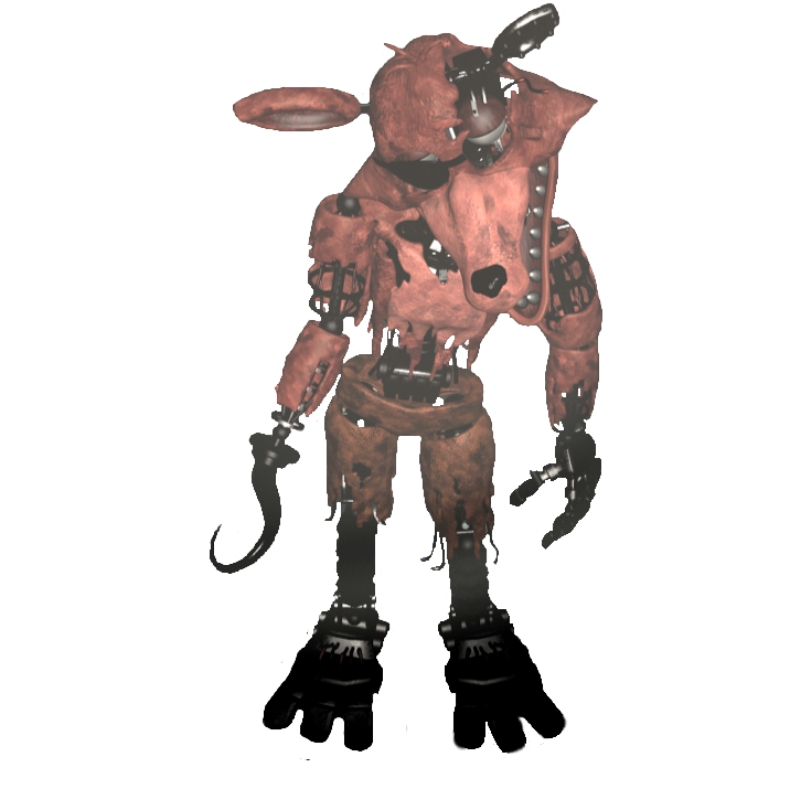 Transparent fnaf withered. Foxy full body by