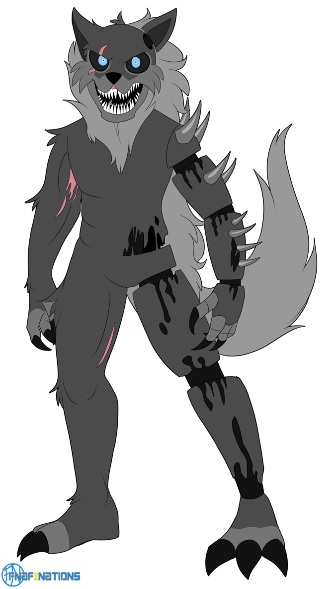 Transparent fnaf wolf. Twisted by fnafnations five